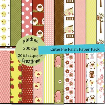 Cutie Pie Farm Digital Papers