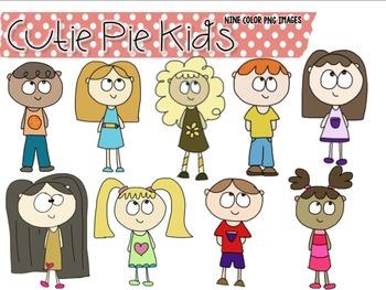 Cutie Pie Kids Clip Art