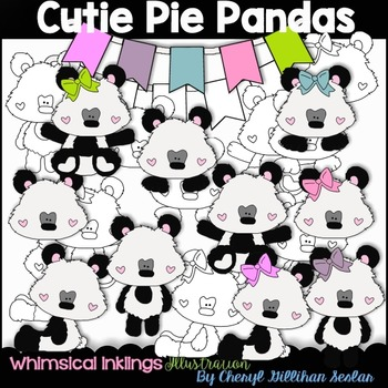 Cutie Pie Pandas Clipart Collection