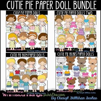 Cutie Pie Paper Doll Bundle Clipart
