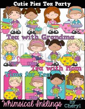 Cutie Pie Tea Party Clipart Collection