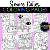 Cutie S'more Coloring Pages {Made by Creative Clips Clipart}