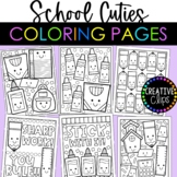 Cutie School Coloring Pages {Made by Creative Clips Clipart}