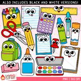 Cutie School Supplies Clip Art
