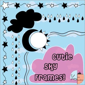 Cute Sky Frames /Borders < Freebie >