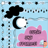 Cute Sky Frames /Borders < Freebie >