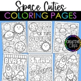 Cutie Space Coloring Pages {Made by Creative Clips Clipart}