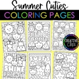 Cutie Summer Coloring Pages {Made by Creative Clips Clipart}