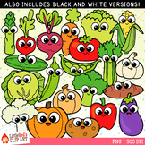 Cutie Vegetables Clip Art