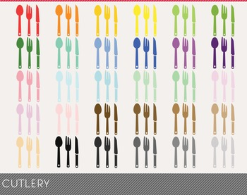 Cutlery Digital Clipart, Cutlery Graphics, Cutlery PNG
