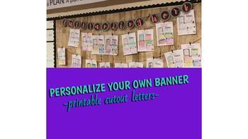 Cutout Banner Letters