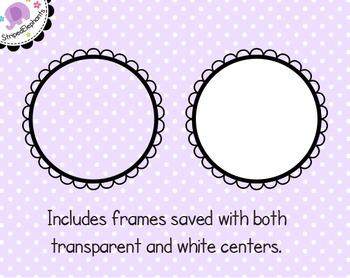 Cutout Scalloped Digital Frames 1