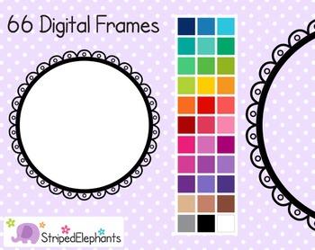 Cutout Scalloped Digital Frames 3