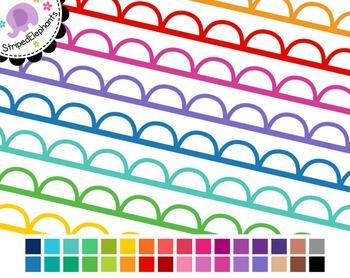 Cutout Scalloped Digital Ribbon Borders 1