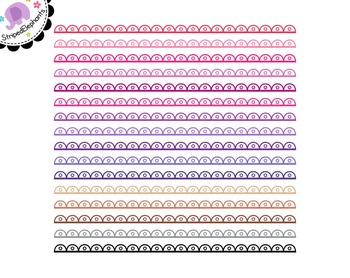 Cutout Scalloped Digital Ribbon Borders 3