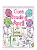 Cuttin' It Close! April Close Reading Pack {Kindergarten,