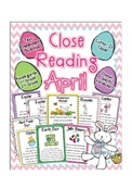 Cuttin' It Close! April Close Reading Pack {Kindergarten,