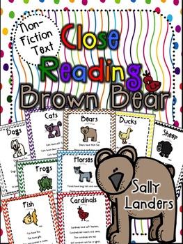 Cuttin' It Close! Brown Bear & Friends Close Reading Pack