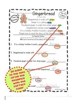 Cuttin' It Close! DECEMBER Close Reading Pack {Kindergarten, 1st & 2nd Grade}