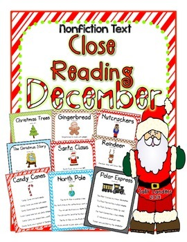Cuttin' It Close! DECEMBER Close Reading Pack {Kindergarten, 1st & 2nd Grade}
