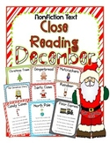 Cuttin' It Close! DECEMBER Close Reading Pack {Kindergarte