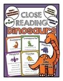 Cuttin' It Close! DINOSAUR Close Reading Pack {Kindergarte