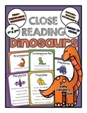 Cuttin' It Close! DINOSAUR Close Reading Pack {Kindergarte