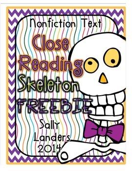 Cuttin' It Close! FREEBIE! Skeleton Close Read {Kindergart