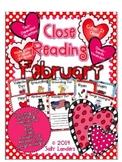 Cuttin' It Close! February Close Reading Pack {Kindergarte