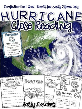 Cuttin' It Close! HURRICANE Close Read {Early Elementary}