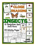 Cuttin' It Close! INSECTS Close Reading Pack {Kindergarten, 1st & 2nd Grade}