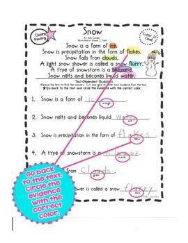 Cuttin' It Close! January Close Reading Pack  {Kindergarten, 1st & 2nd Grade}