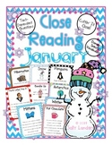 Cuttin' It Close! January Close Reading Pack  {Kindergarte