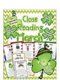 Cuttin' It Close! March Close Reading Pack {Kindergarten,