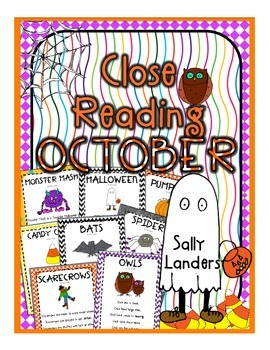 Cuttin' It Close! October Close Reading Pack {K, 1st & 2nd Grade}