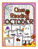 Cuttin' It Close! October Close Reading Pack {K, 1st & 2nd Grade}
