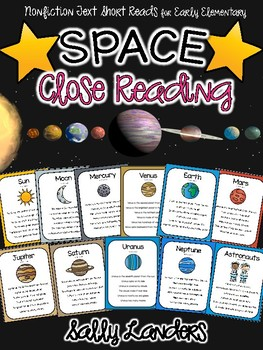 Cuttin' It Close! SPACE Close Reading Pack {Early Elementary}