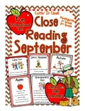 Cuttin' It Close! September Close Reading Pack {Kindergart