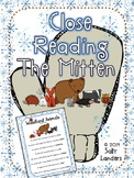 Cuttin' It Close! The Mitten Close Reading Pack {Kindergar