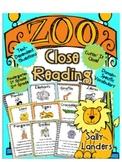 Cuttin' It Close! Zoo Animals Close Reading Pack {Kindergarten, 1st & 2nd Grade}