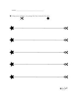 Cutting Along The Lines - Beginning Fine Motor Skills Worksheets