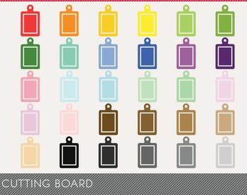 Cutting Board Digital Clipart, Cutting Board Graphics, Cutting Board PNG