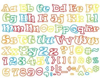 Cutting Files Alphabet, Numbers & Symbols- (001C)