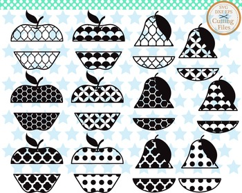 Cutting Files -Apples And Pears - Digital Clipart(009C)