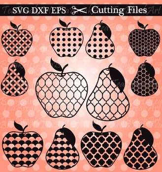 Cutting Files - Apples and Pears- Digital Clipart(007)