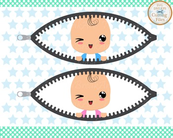 Cutting Files -Baby in Belly- Digital Clipart (011C)