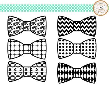 Cutting Files -Bow Tie Pattern - Digital Clipart(013C)
