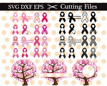 Cutting Files- Breast Cancer Pink Ribbon- Decal Cutter Digital ClipArt