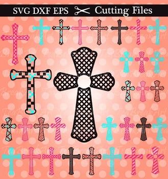 Cutting Files -Christian Cross- Digital Clipart (005C)