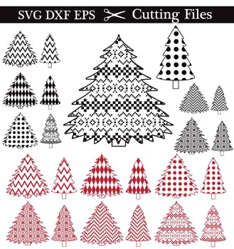 Cutting Files -Christmass Tree - Digital Clipart (018C)